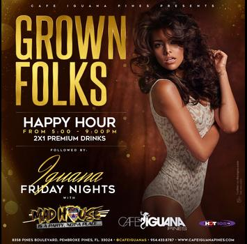 Grown Folks Happy Hour with Hot 105